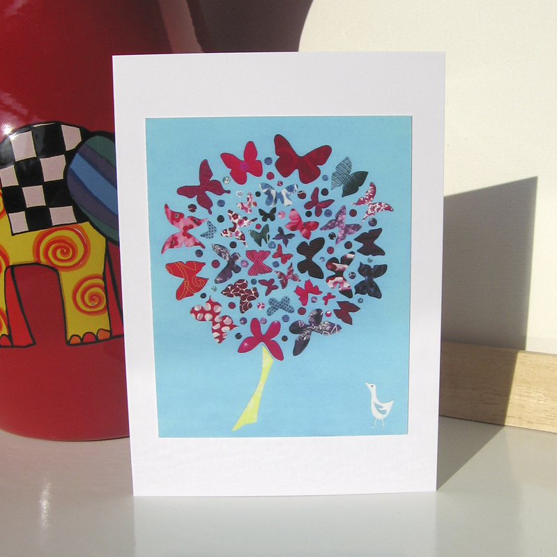 Greeting Card - Butterfly Tree