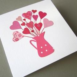 Valentine's Hearts - original collage gift card (10)