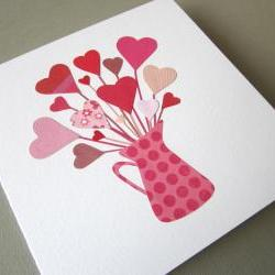 Valentine's Hearts - original collage gift card (11)