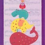 Animal Musical Statues - Art Print - 10 x 8