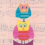Owl Musical Statues - Art print - 1..