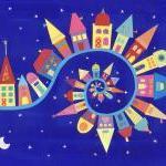 Twisty-Twirly Town - Art Print - 10 x 8