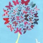 Butterfly Tree - Art Print - 10 x 8