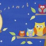 Bedtime Owls - Art print - 11 x 4