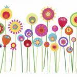 "She Grew Paper Flowers - Art Print - A4 (8.3"" x 11.7"")"